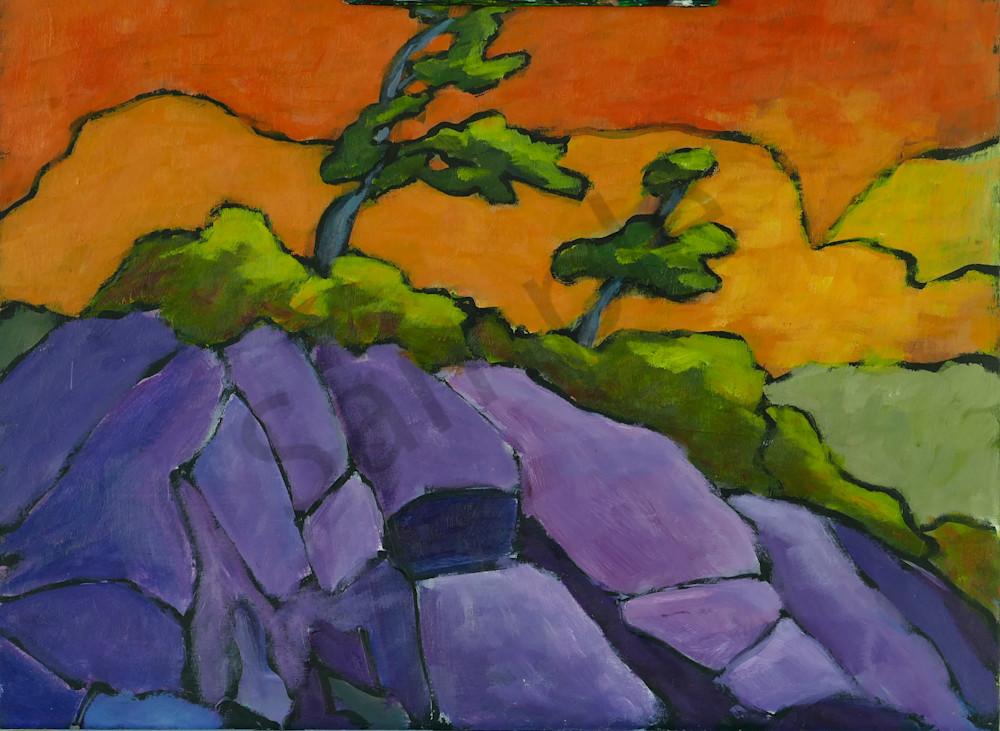 Two Trees, Purple Rocks