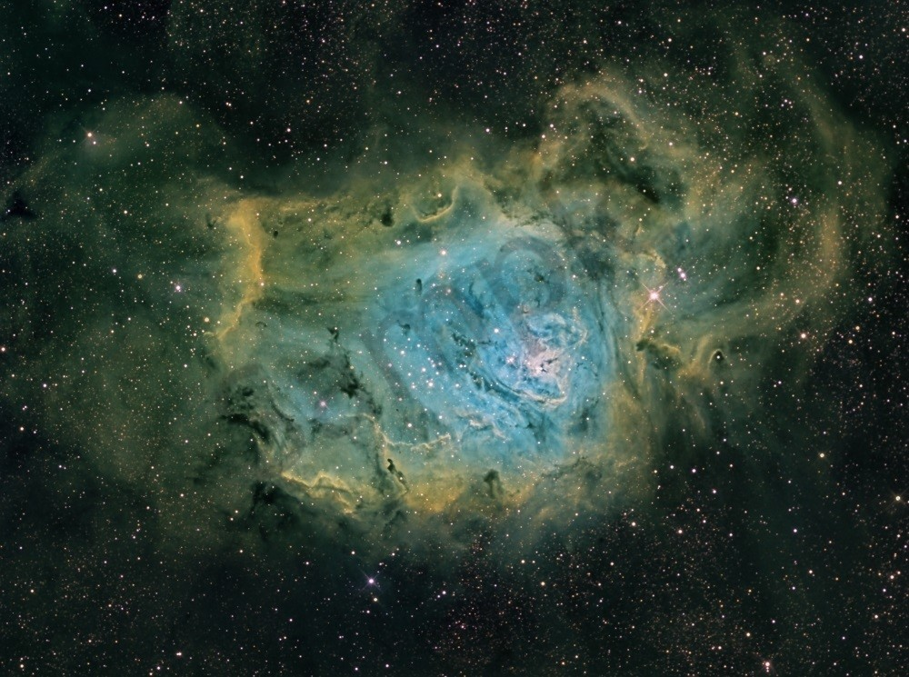Lagoon Nebula (Green) 2