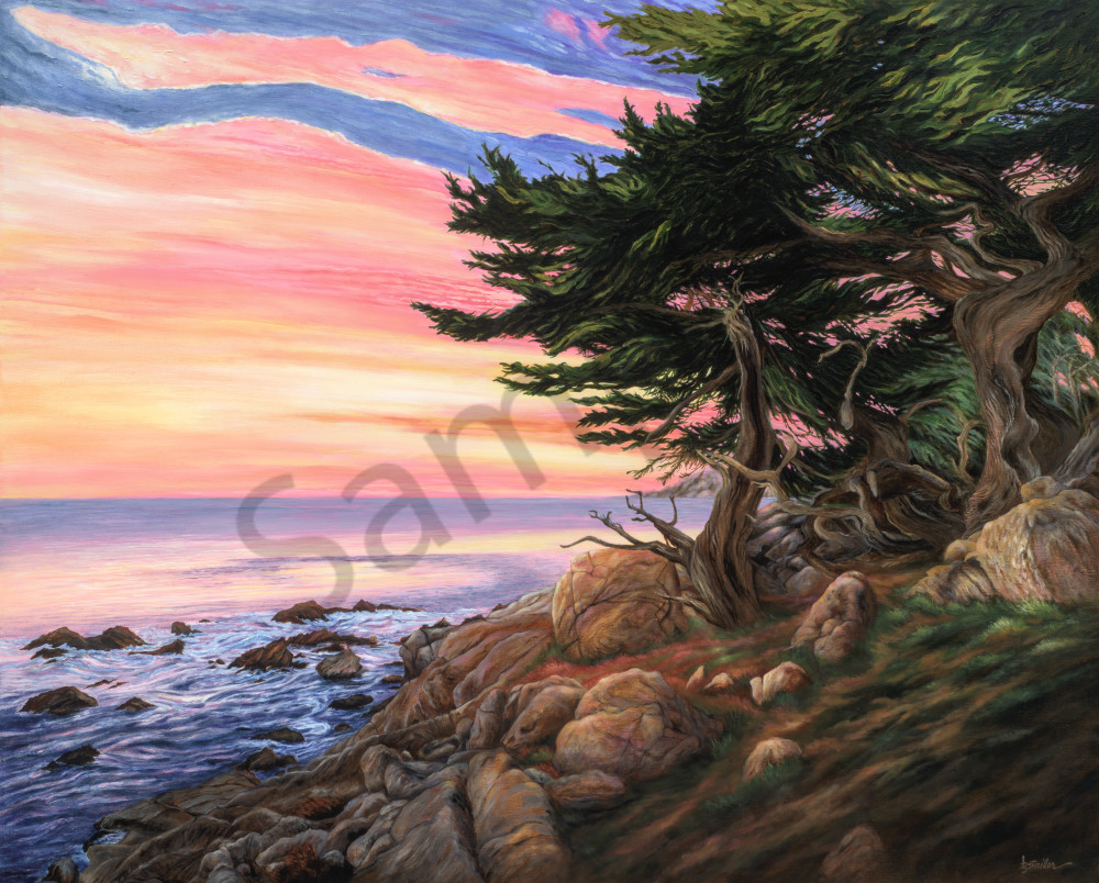 """Pescadero Point Sunset"" Art 