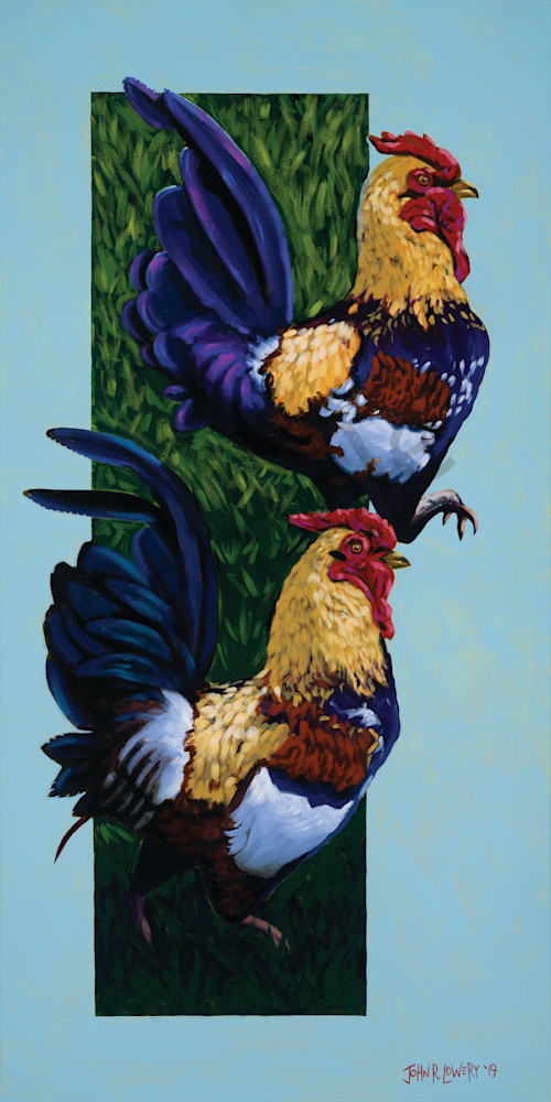 Rooster paintings by John R. Lowery for sale as art prints.