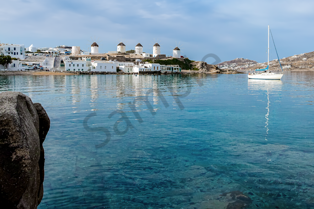 """'paximadi', """"O Fournos tou Giora"""" , Chora, The Windmills, Mykonos Town"""
