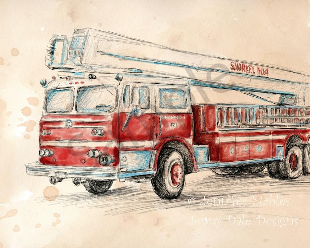 Vintage Snorkel Fire Truck