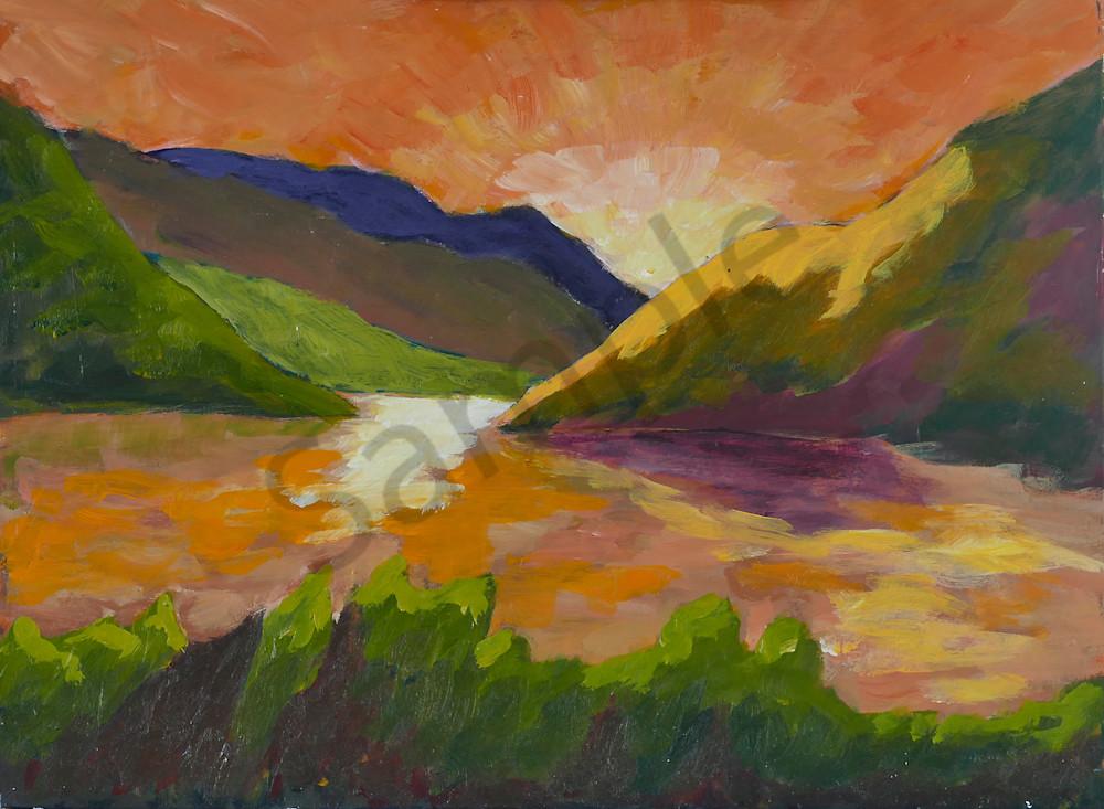 Blazing Sunrise Art   Keith Thirgood