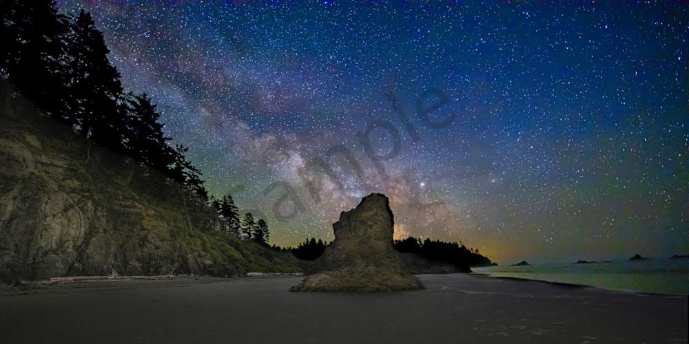 Ruby Beach Milky Way 3 Photography Art | John Martell Photography