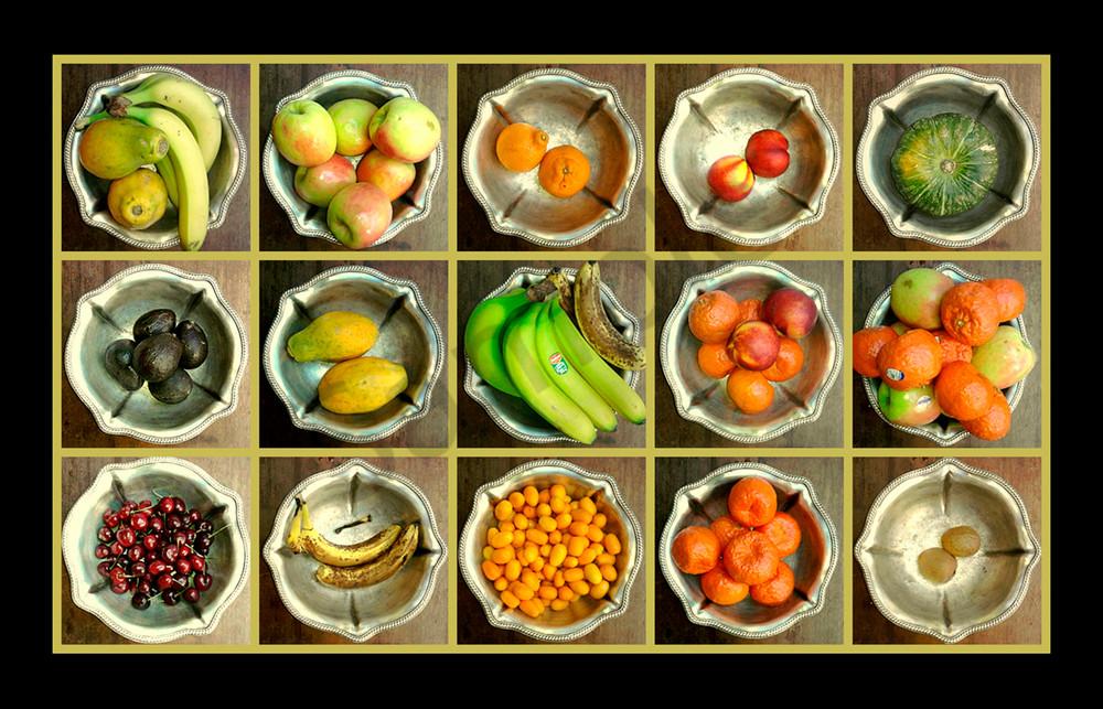 Fruit In Silver Bowls for Sale as Fine Art