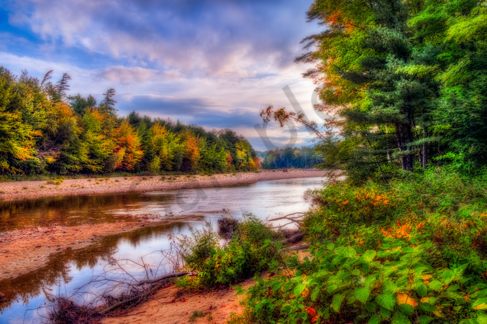 Fall foliage along Saco River