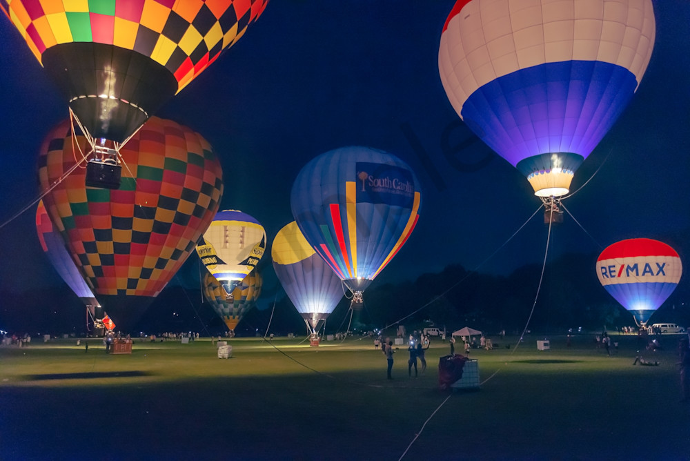 Piedmont Park Hot-Air Balloon Glow | Fine-Art Print Susan J
