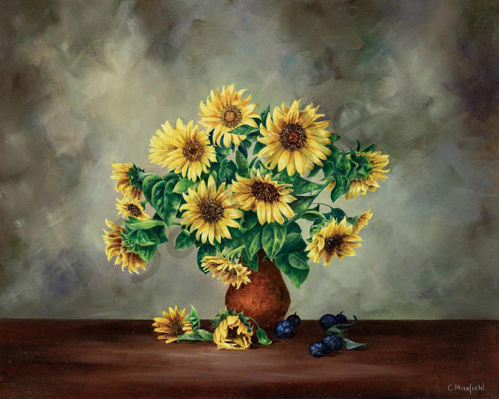 Sunflowers and Blueberries