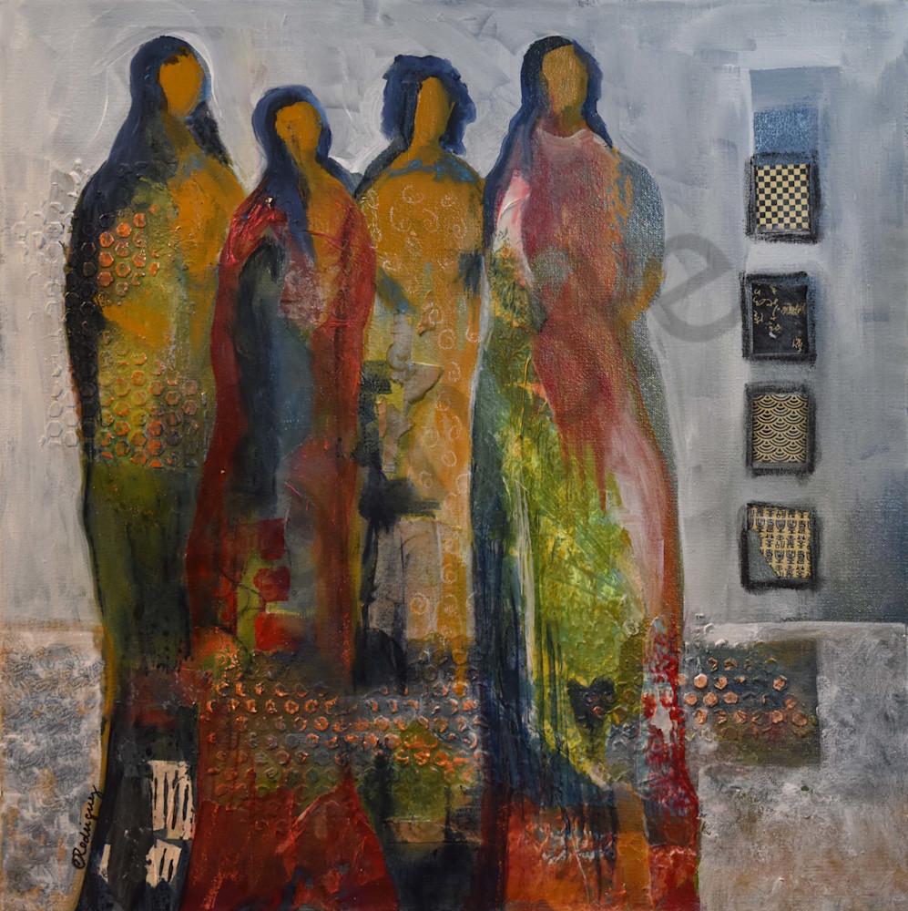Women Of The Red Thread Art   Connie Rodriguez Fine Art