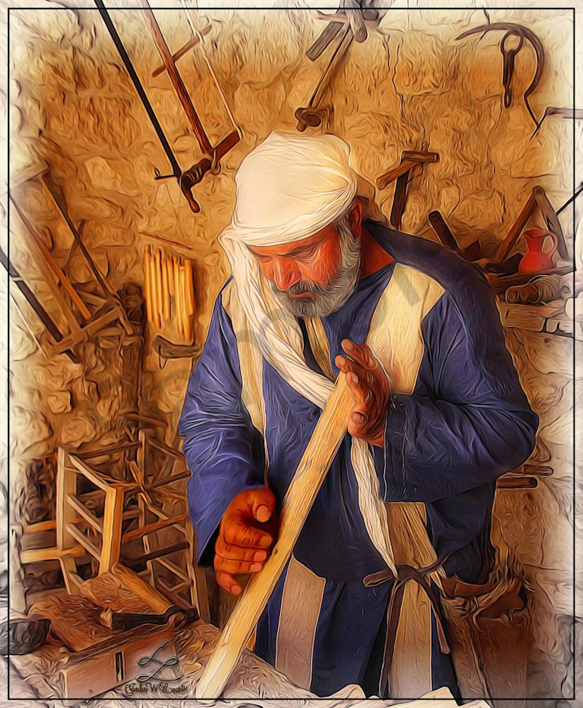 """Carpenter of Nazareth 2"" by John W. Lewis | Prophetics Gallery"