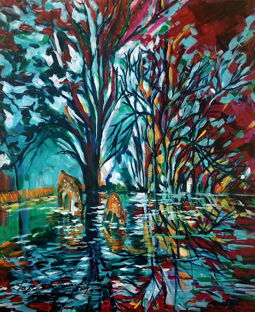Moonlit Rendezvous Art   Janak Narayan Fine Art