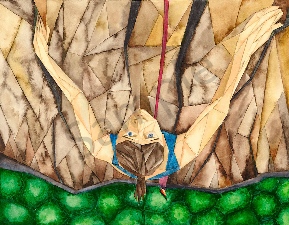 """""""Hanging On"""" fine art print by Matthew Campbell."""