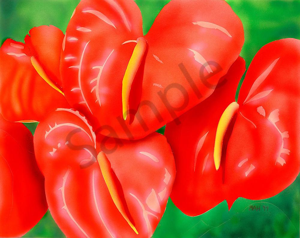"""Anthurium"" fine art print by Mary Anne Hill."