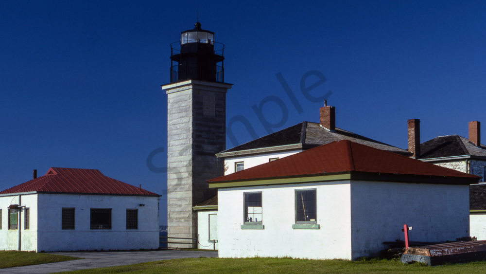 Fine Art Print of the Very Colorful Beavertail Lighthouse