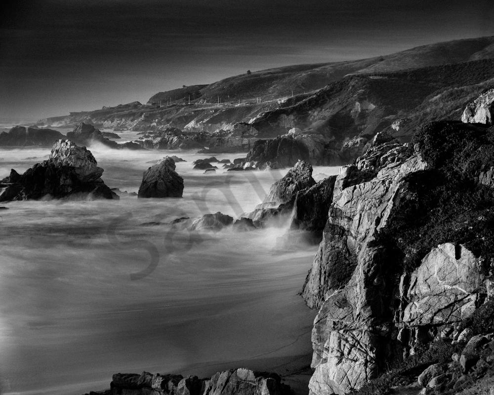 Fine Art Print | Big Sur in Black and White