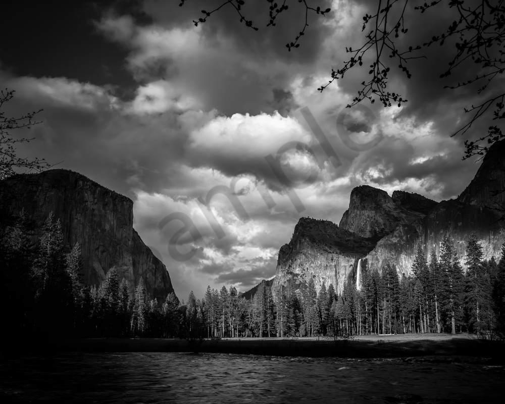 Fine Art Print | Gates of The Valley in dramatic B&W