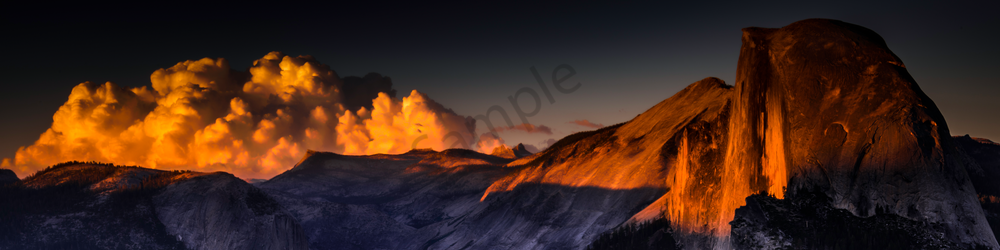 Fine Art Print | Panoramic of Half Dome at Sunset