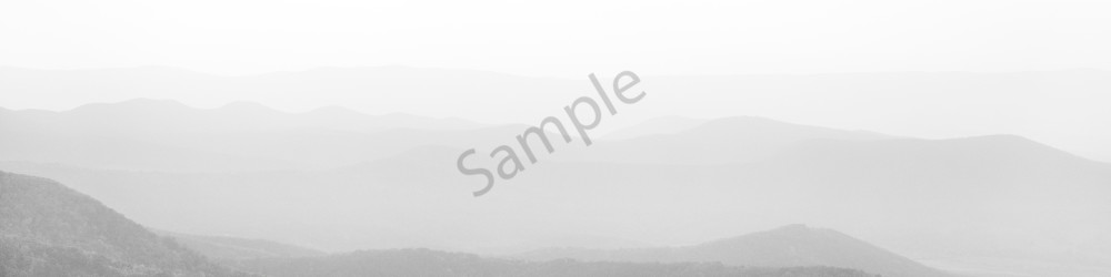 Fine Art Print | Layers of Mountains in Shades of White