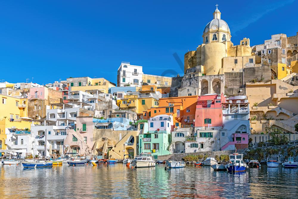 Bay of Naples, Tiny Island, Marina Corricella, fishing village