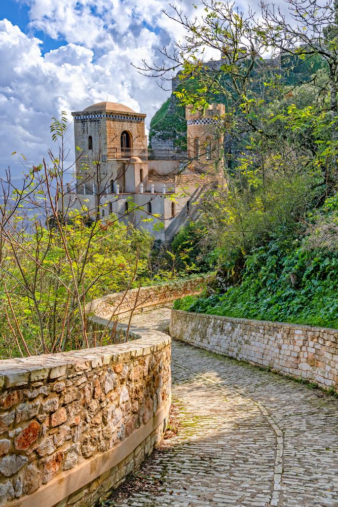 Torretta Pepoli castle, Monte Erice, Erice, Sicily, Italy, Count Agostino Pepoli