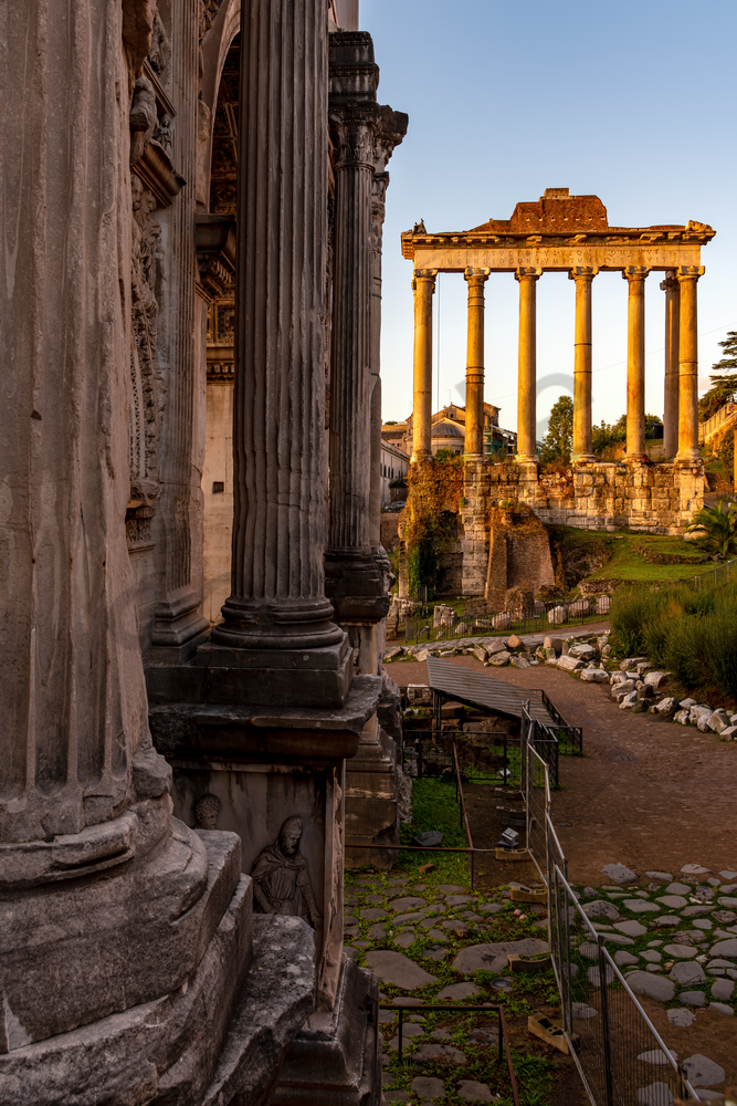 Ancient Rome, Ruins, Colosseum, Arch of Septimius Severus, Rome, Italy