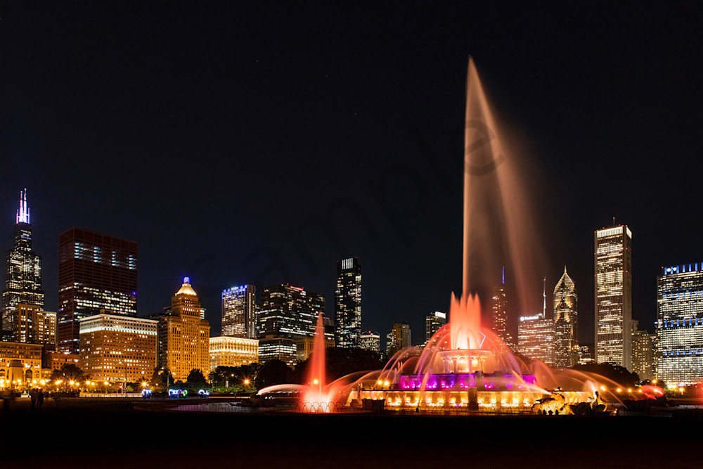 Chicago's Buckingham Fountain - fine art print photography - by JP Sullivan