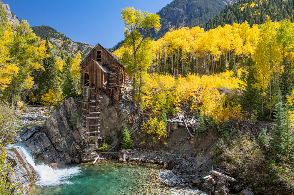 Crystal Mill - Colorado - fall colors - fine art photography prints -