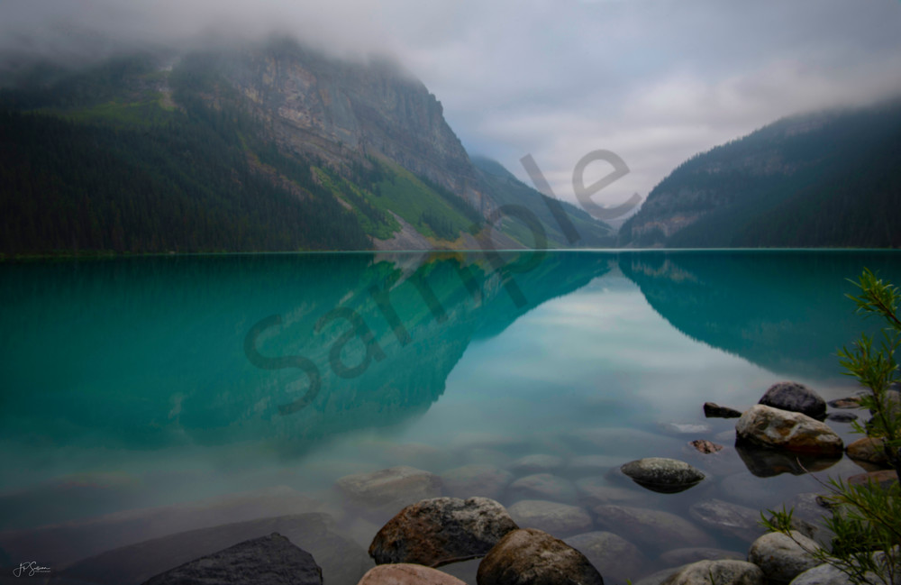 Lake Louise mystic reflection - Banff Canada - fine art photography print - Canada - JP Sullivan Photography, Inc