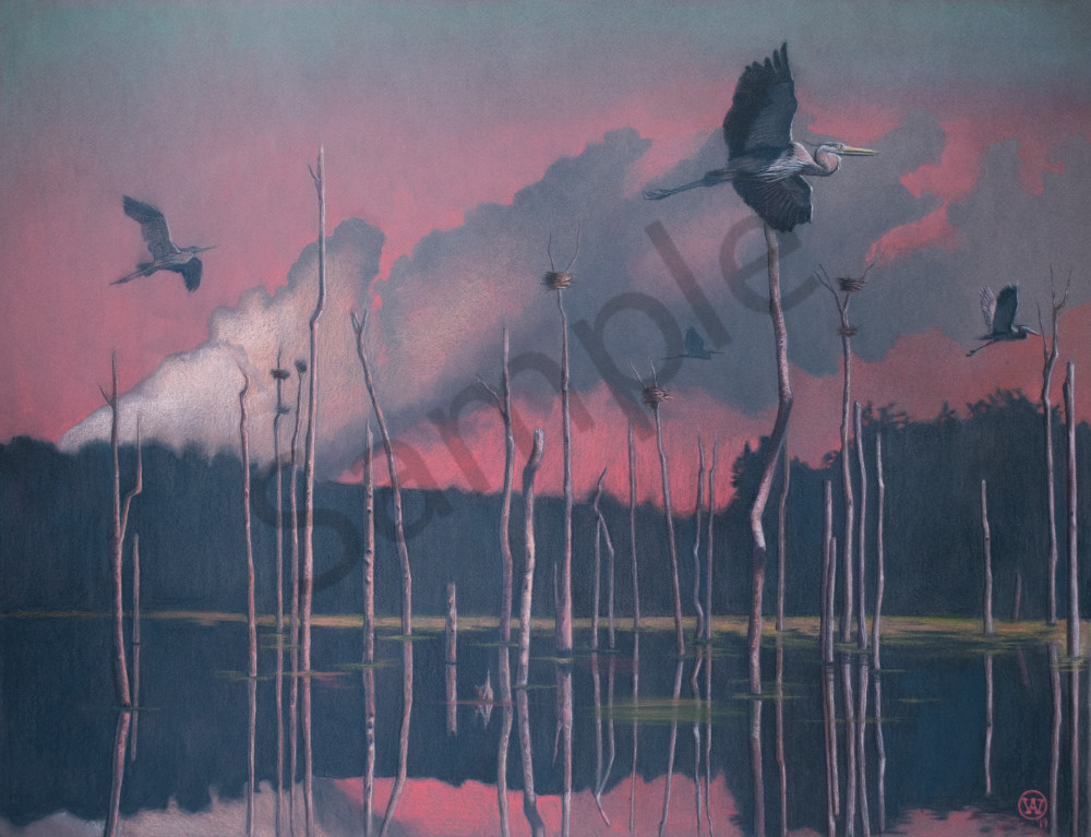 Heron Art | Warfield Art and Design