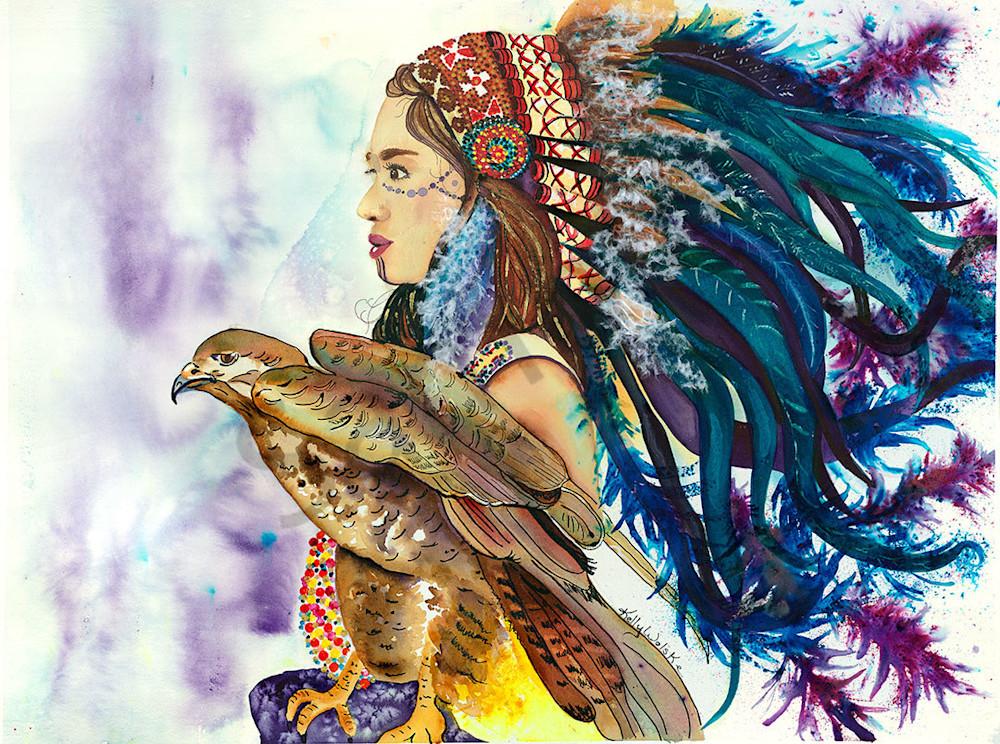 """""""Wind Hunter"""" fine art print by Kelly Wolske."""