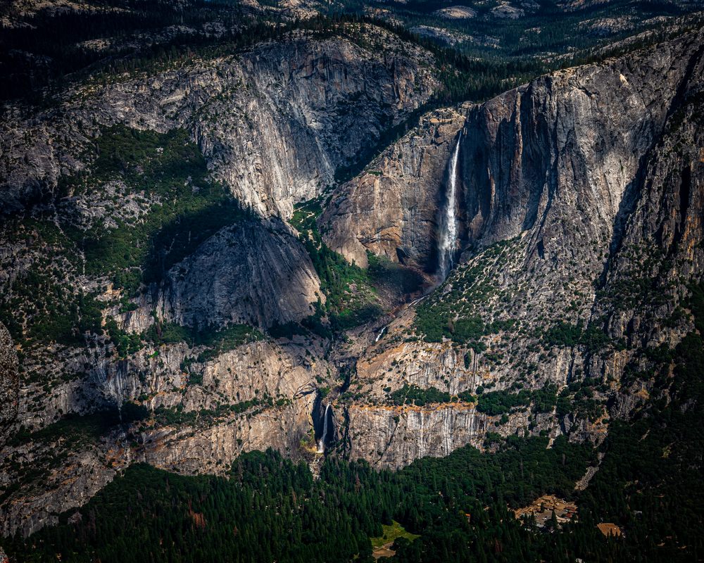 Fine Art Print of Sierra Mountains Surround Yosemite Falls