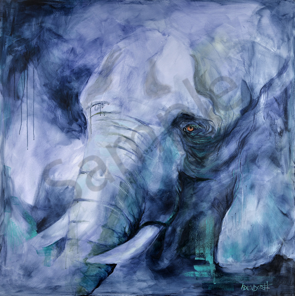 """""""Unrestrained - Elephant"""" by Connecticut Artists Mandy Adendorff   Prophetics Gallery"""