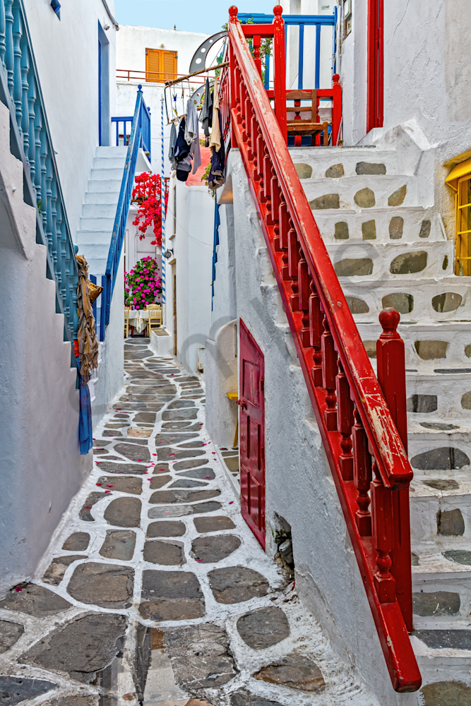 Art Print Chora Mykonos Greece  Labyrinth and Color  | Louis Cantillo