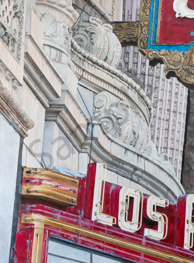 Los Angeles Theater:  Fine Art Painting by Artist Shane O'Donnell