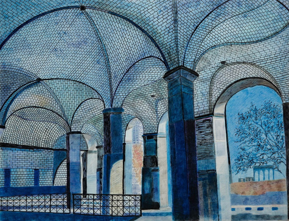 Outside NYC Hall Subway With The Arabesque Architecture