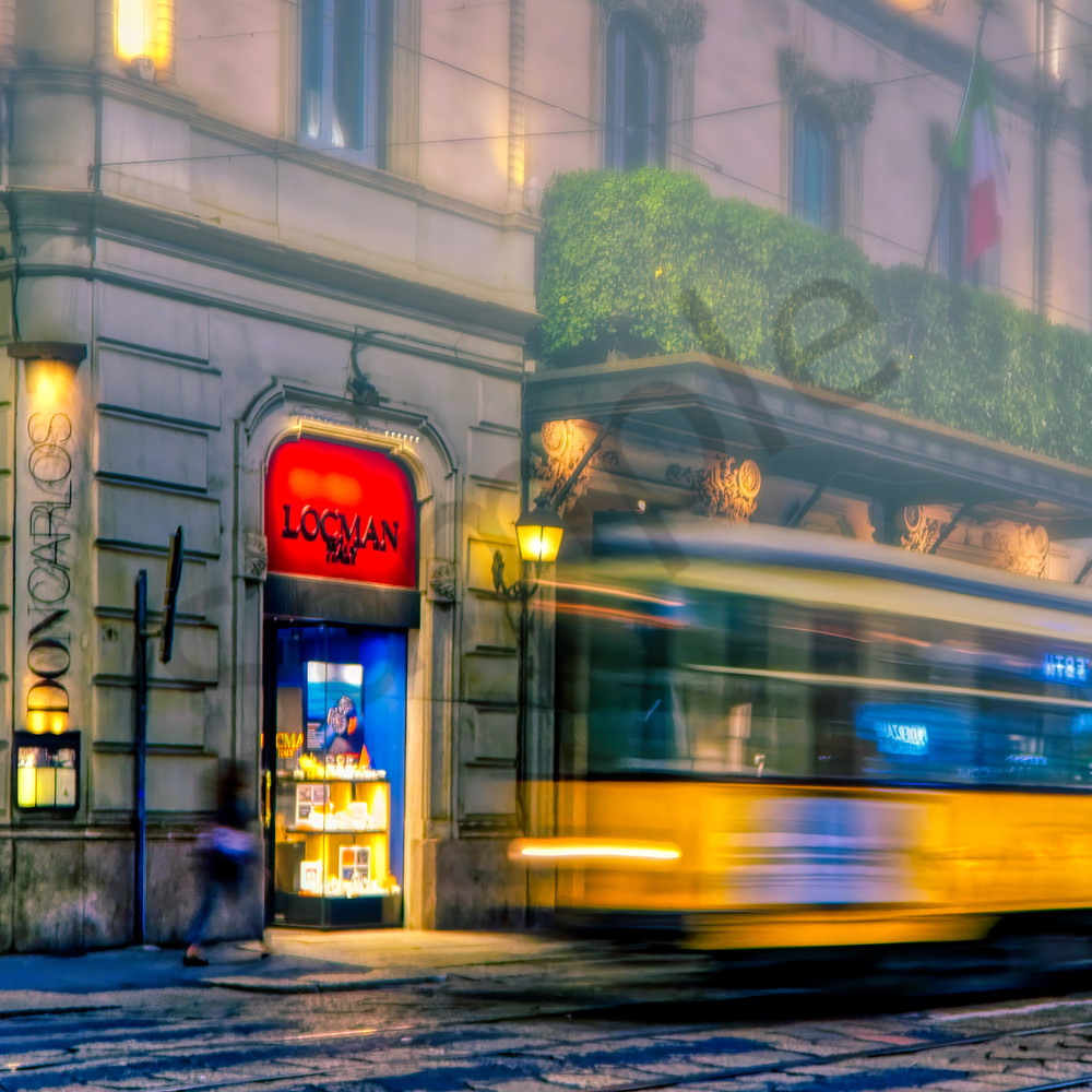 Milan Streetcar Photography Art | FocusPro Services, Inc.