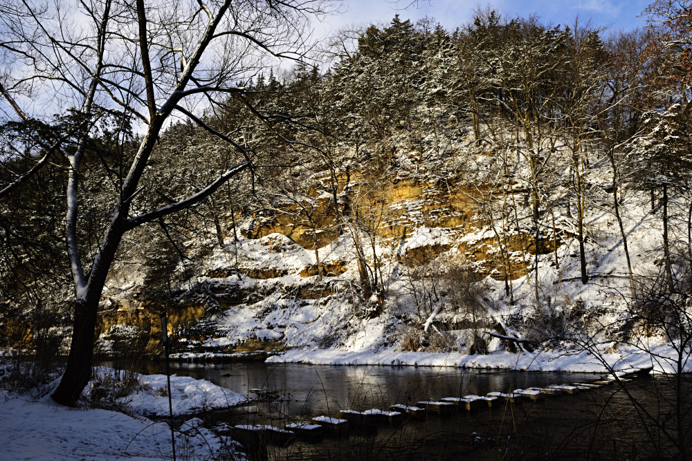Whitewater River In Winter Photography Art | LHR Images