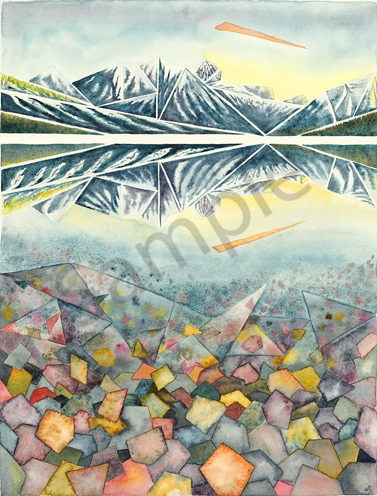 """Glacier Sunrise"" fine art print by Matthew Campbell."