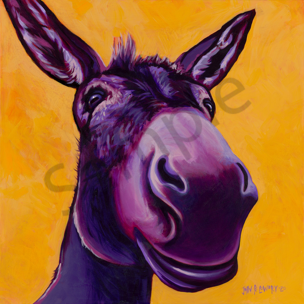 Donkey paintings by John R. Lowery available as art prints.
