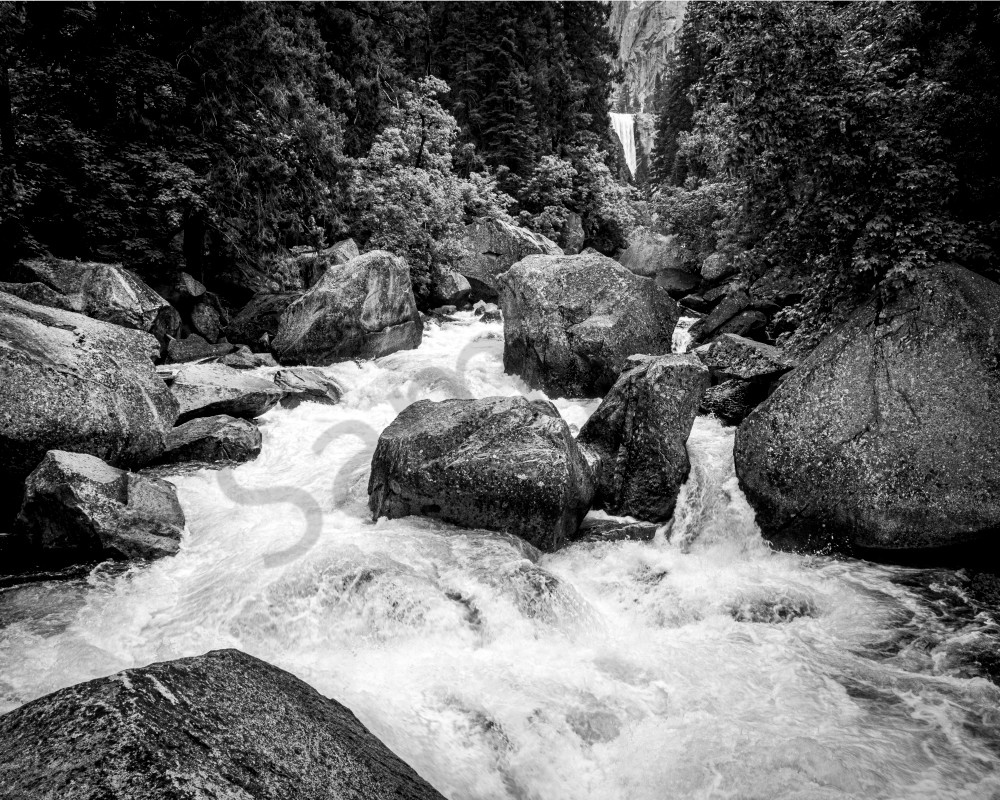 Raging Merced River Near Vernal Falls Art | Robert Vielee Photography