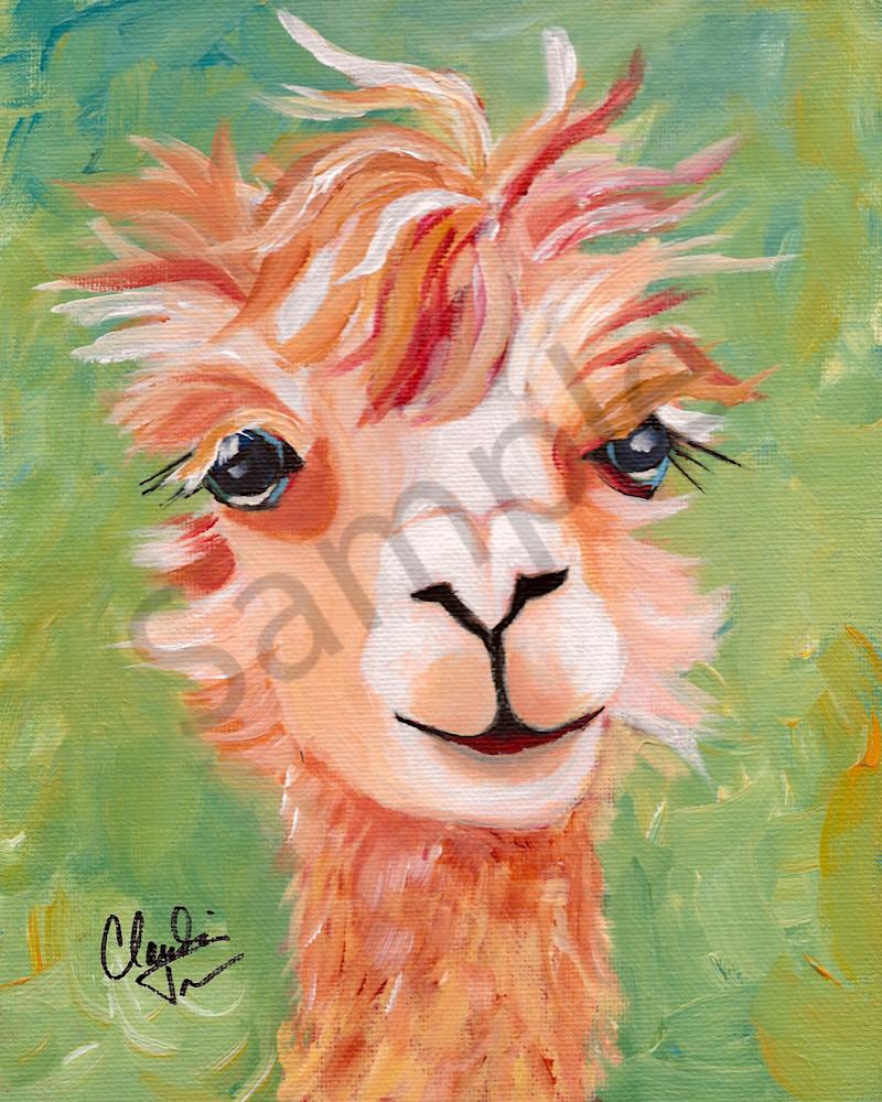 Ginger the Precious Alpaca