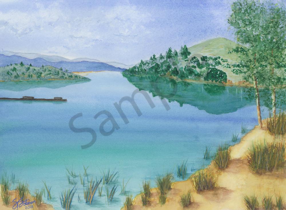 Lake Dixon Reflection 2018 -  Watercolor Painting