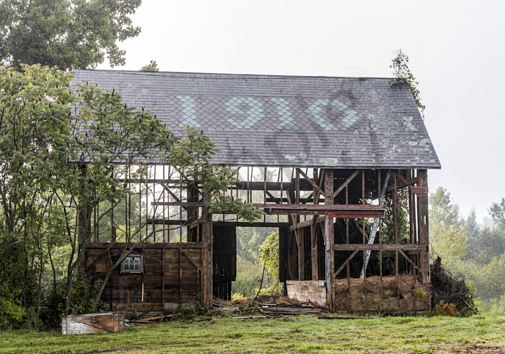 Rustic barn just prior to being torn down and used for restoration pieces