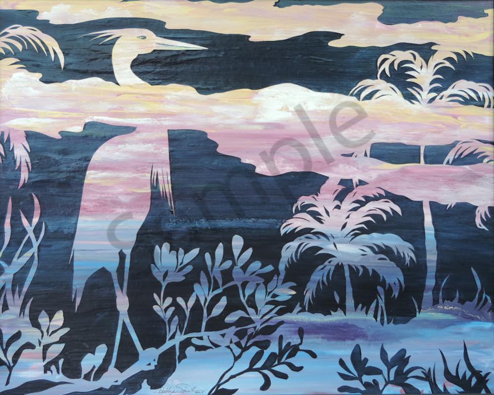 Heron Tropical Art | Shore Paintings