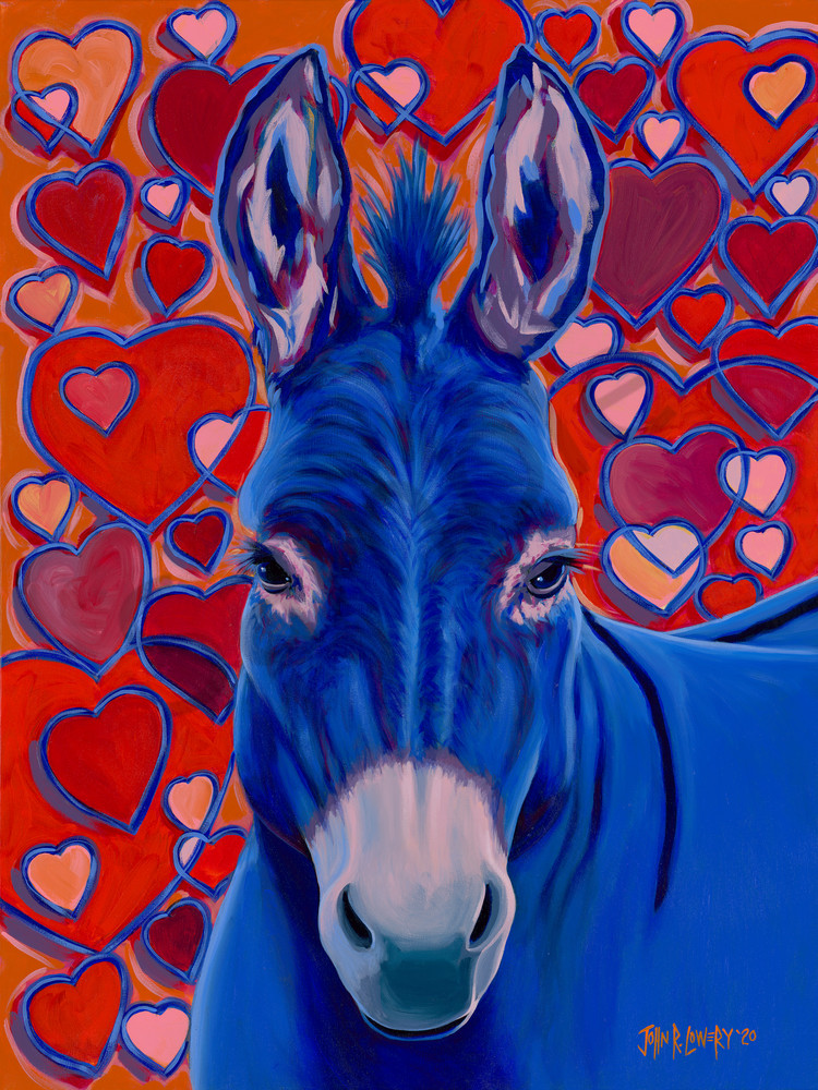 Donkey paintings by John R. Lowery for sale as art prints.