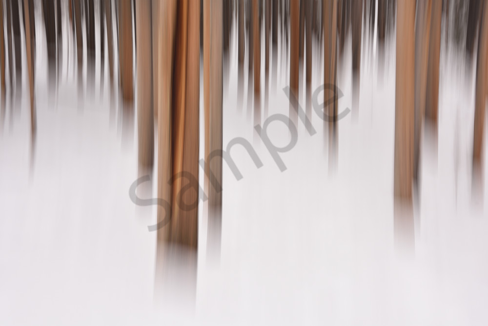 Winter Lands - Motion Blur Photographs Yellowstone National Park - Fine Art Prints on Metal, Canvas, Paper & More By Kevin Odette Photography