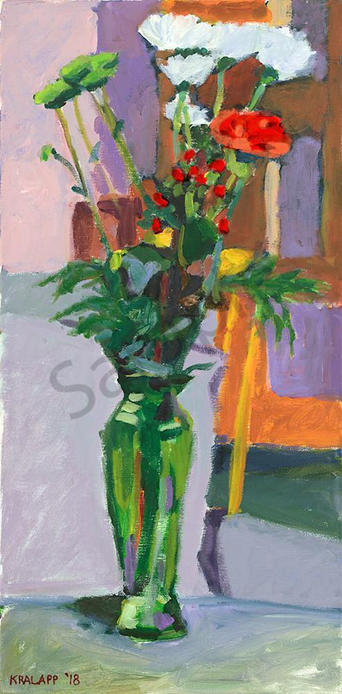 """""""Cara Coffee Green Vase"""" fine art print by Karl Kralapp."""
