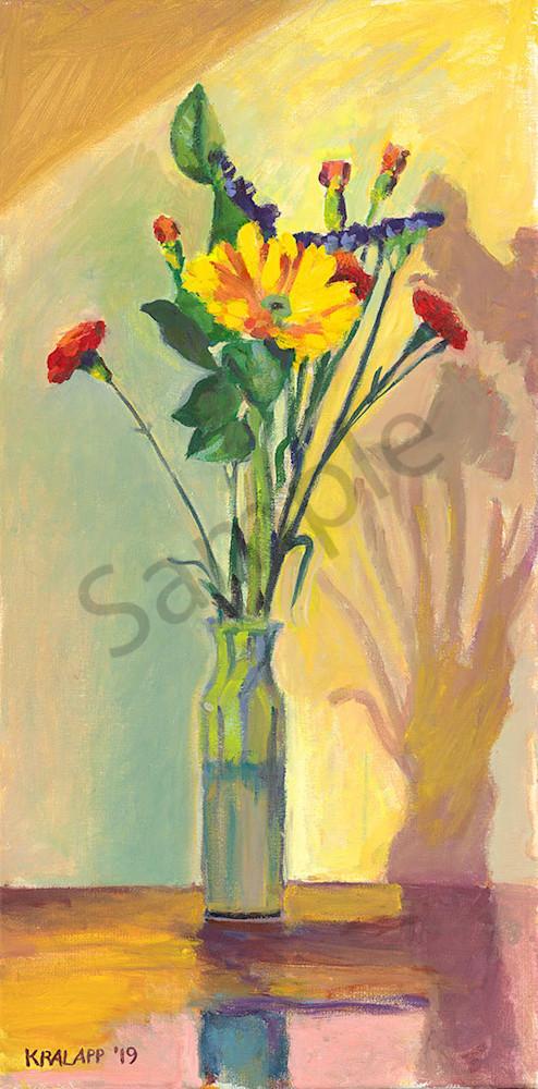 """Six Carnations"" fine art print by Karl Kralapp."