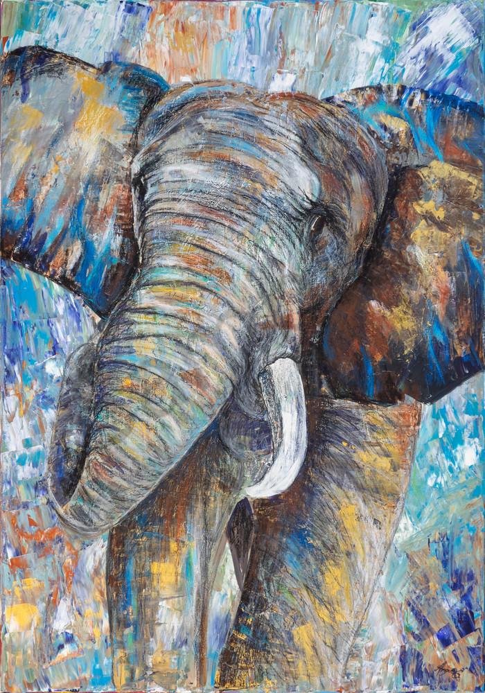 """Elephant"" by German Prophetic Artist Angela Günther   Prophetics Gallery"