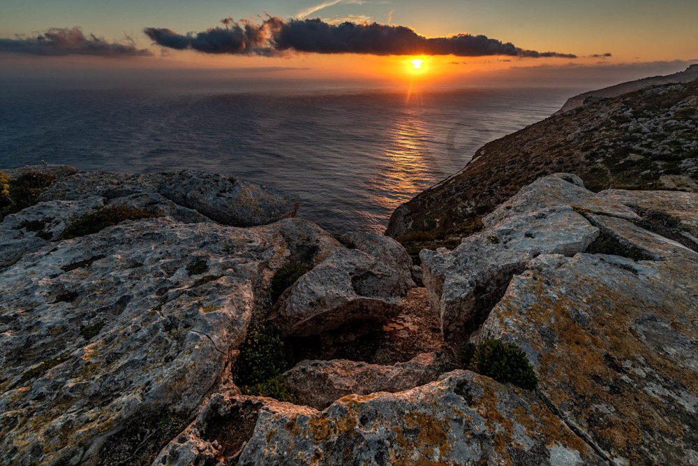 Dingli Cliffs sunset Malta